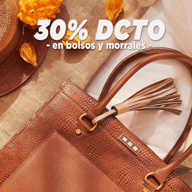 botón para comprar bolsos en Colombia con 30% de descuento