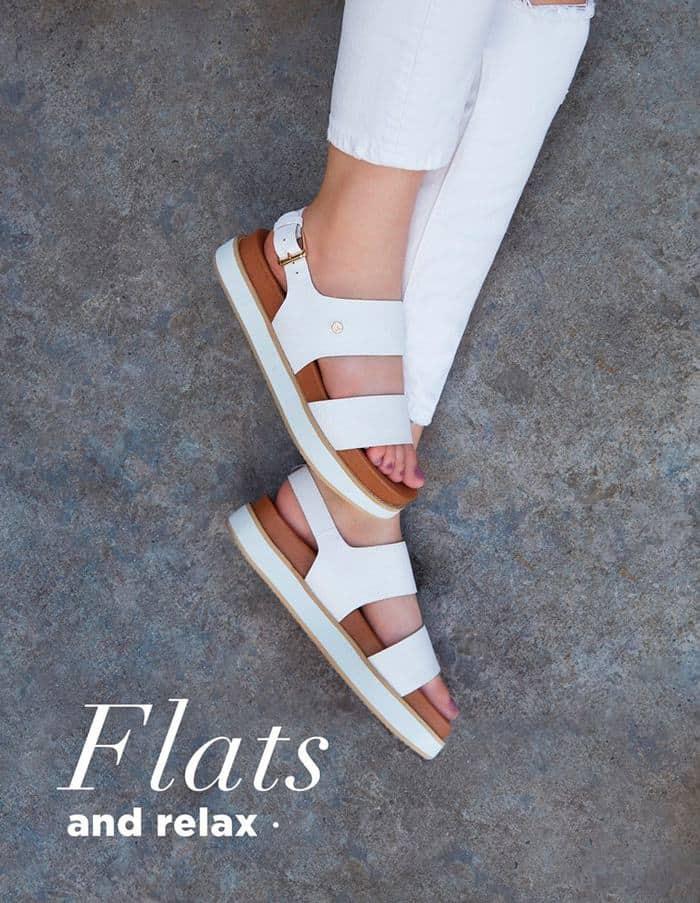 Botón para visitar sección de zapatos planos o con tacón bajito - envío en Colombia
